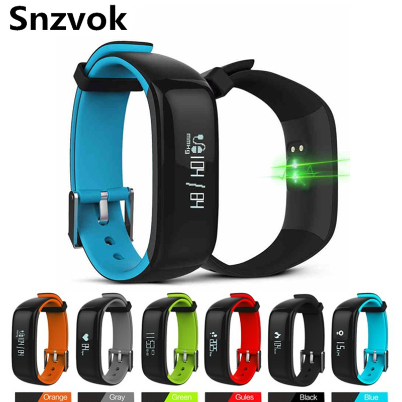 Snzvok P1 Smart Bracelet Bluetooth 4 0 Heart Rate Health Sleep Monitor Waterproof Wristand Sports Fitness