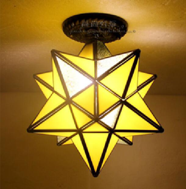 Tiffany creative Star personality living room restaurant bar ceiling lamps corridor entrance balcony windows simple DF58