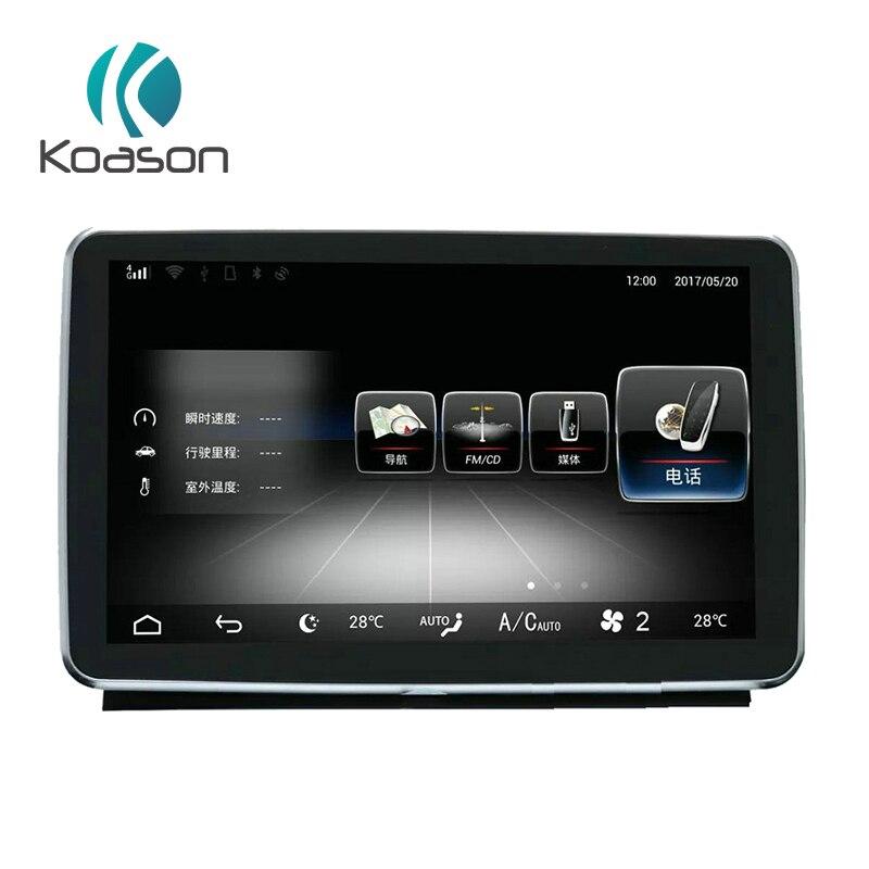 Koason Android 8.1 lecteur multimédia Audio de véhicule pour Mercedes Benz ML W166 2012-2015 tête unité moniteur voiture GPS Navigation