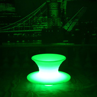 Skybess SK-LF35P (L65*W65*H43cm) Waterproof LED Bar Stool Chair 16 Color Changing Lighting in Dark for Home Bar Furniture 1pc