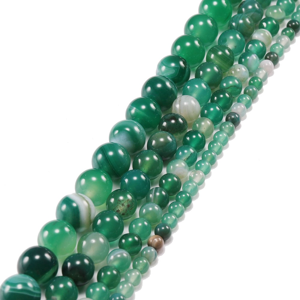 4mm Dark Green Goldstone Beads Earthy Green Small Round Glitter Sparkle B-18D