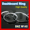 for Mercedes Benz W140 Silver Cluster Rings Silver Gauge Rings Dashboard Ring