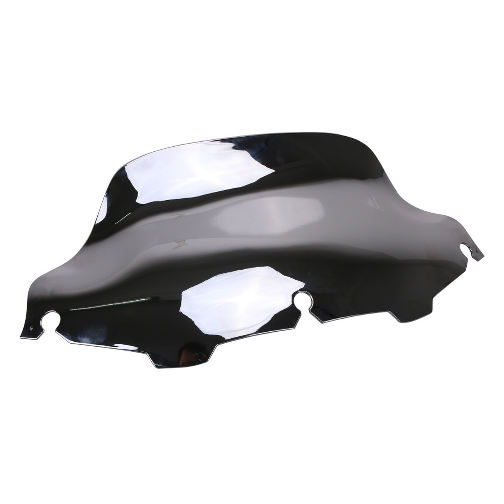 Chrome Motorbike 8 Windshield Windscreen Wind Air Deflector For Harley Electra Glide FLHT FLHX Touring Motorcycle #MBJ333-E chrome batwing fair windshield windscreen trim case for harley touring 1996 2013