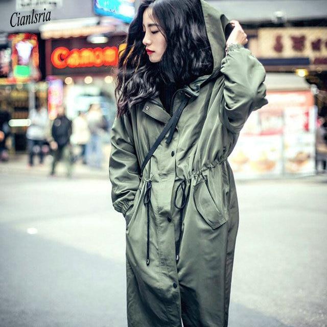 d7af419ba 2018 Autumn Spring Oversize Women Streetwear Coat Casual Adjustable ...