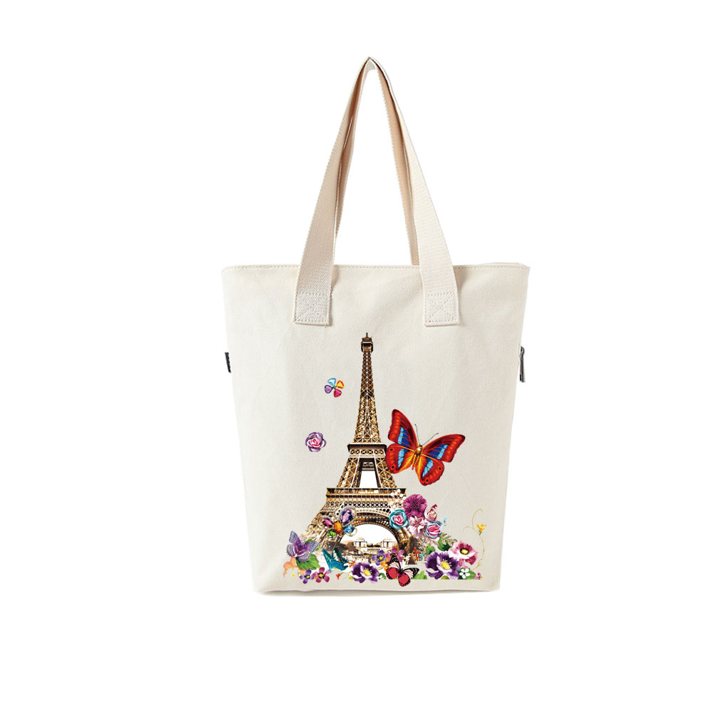 Fashion Paris Tower Thermal Iron On Transfer Patch Badge Heat Vinyl Transfer For Clothes T shirt Flower Stickers Washable DIY in Patches from Home Garden