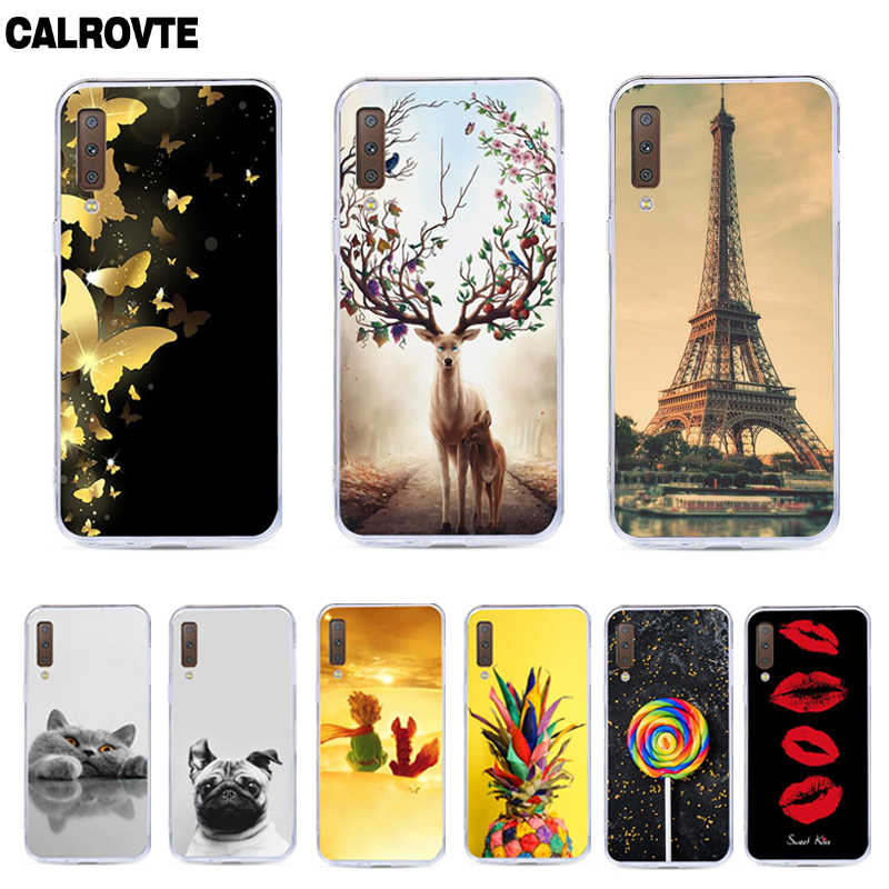 For Samsung Galaxy A7 2018 Case Silicone TPU Cover Phone Case For Samsung A7 2018 A750F A750 SM-A750F A 7 A72018 Case Soft 6.0