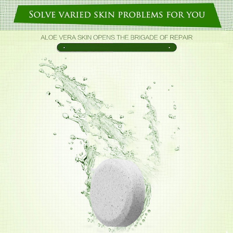 Hot!! Best Parice 30pcs Aloe Vera Compressible Toner Repair  Lotion For Face Dry Skin Sunscreen Skin Care Make Up Tool