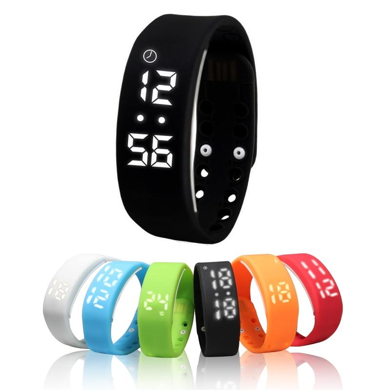 W2 Banda inteligente Pulsera Pantalla de tiempo Reloj inteligente con calorías Calómetro 3D Temperatura del sueño Monitor de pulsera impermeable wach