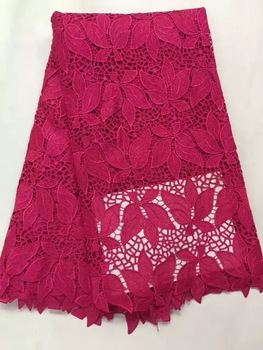 Free shipping!4 colour high quality leaf water soluble african cord lace guipure lace fabric for nigerian women nice dress