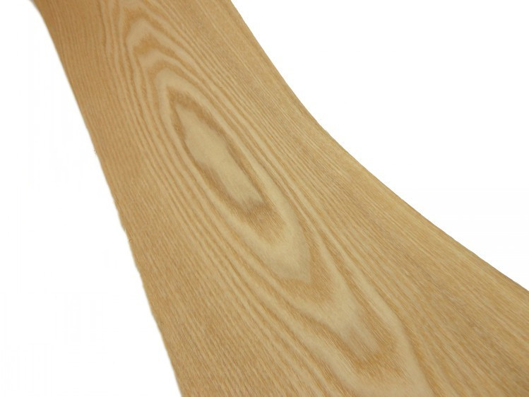 Natural Genuine Wood Veneer Sliced Chinese Ash Furniture Veneer Backing With Tissue About 16cm X 2.5m 0.22mm Thick C/C