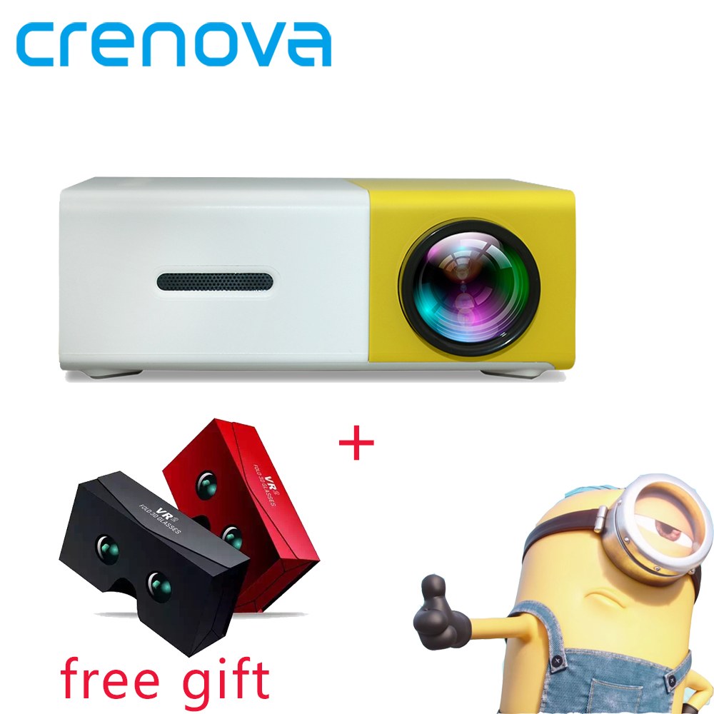 Crenova YG300 Portable Mini Projector For Mobile Phone Led Video 320 x 240 Pixel Support 1080P Smart Home Cinema Projector best selling products portable led mini smart projector