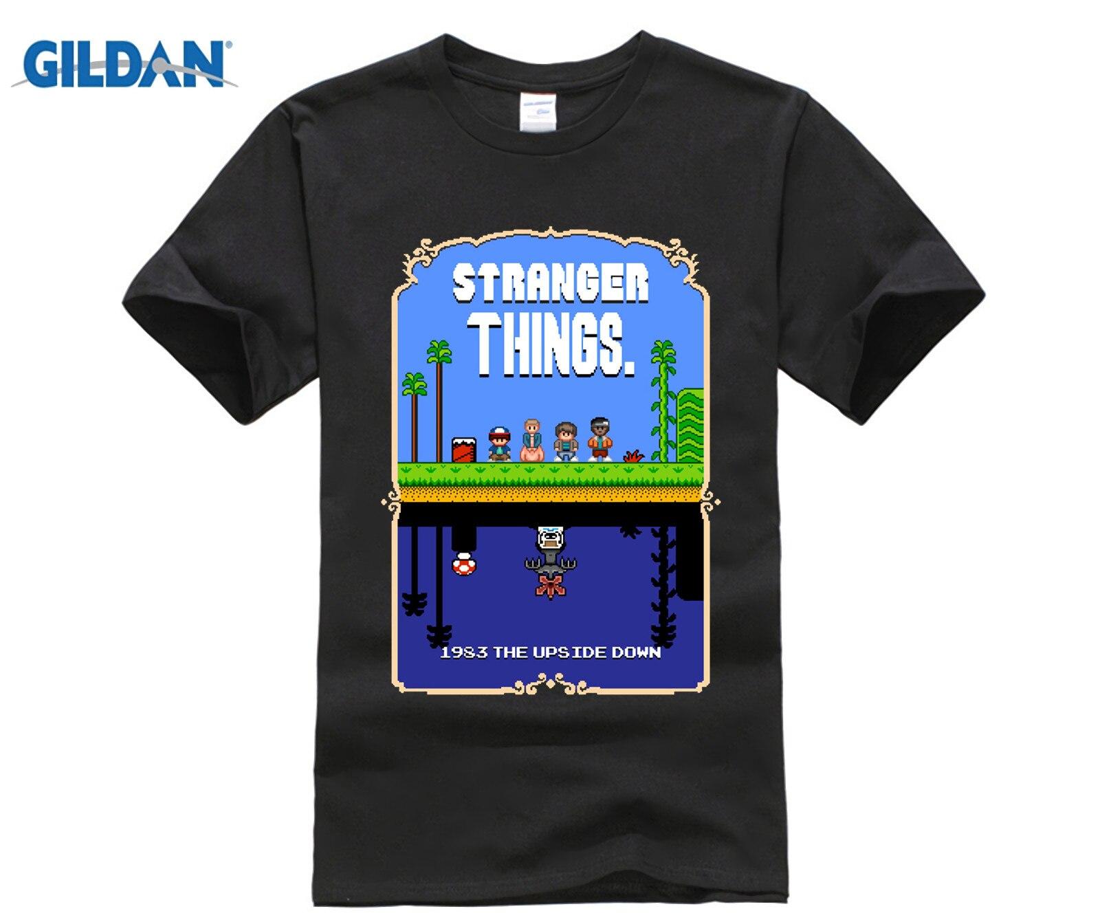 Gildan 100 Cotton O Neck Printed T Shirt Stranger Things