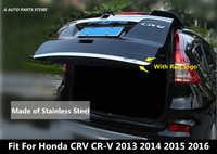 En Acier inoxydable Arrière Hayon Fond de Coffre Couvercle Garniture Accessoires Pour Honda CRV CR-V 2012 2013 2014 2015 2016