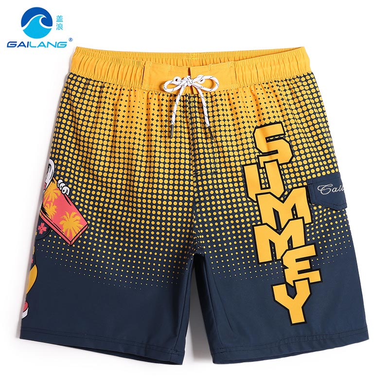 Men's summer bathing suit board shorts hawaiian bermudas joggers swimwear beach shorts surf sexy swimsuit plavky mesh