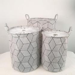 Very large Geometric shapes Laundry Hamper Clothes Storage Baskets Home decoration organizer barrel kids toy storage Basket