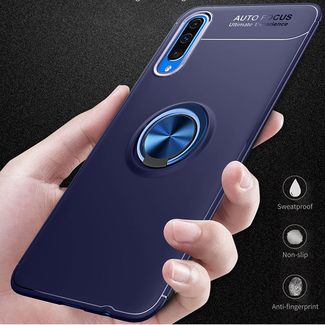 Phone Case For Samsung Galaxy A50 A70 Case Luxurry Magnetic Car Ring Soft Silicone Cover Funda For Galaxy A30 A40 A 50 Case Capa 4