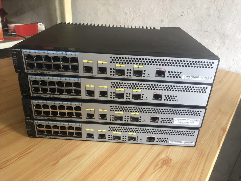 Used Huawei S5720-16X-PWH-LI-AC 12 Gigabit PoE+2 Gigabit 2 10Gigabit Optical Switches