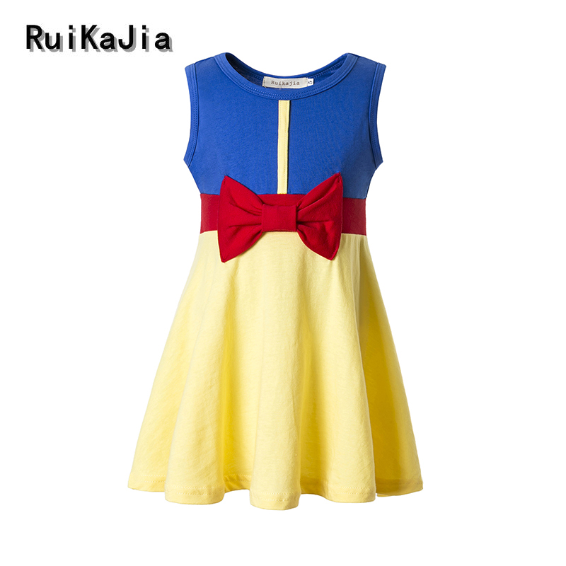 Girls Clothing snow white princess dress Clothing Kids Clothes,belle moana Minnie Mickey dress birthday dresses mermaid costume 6