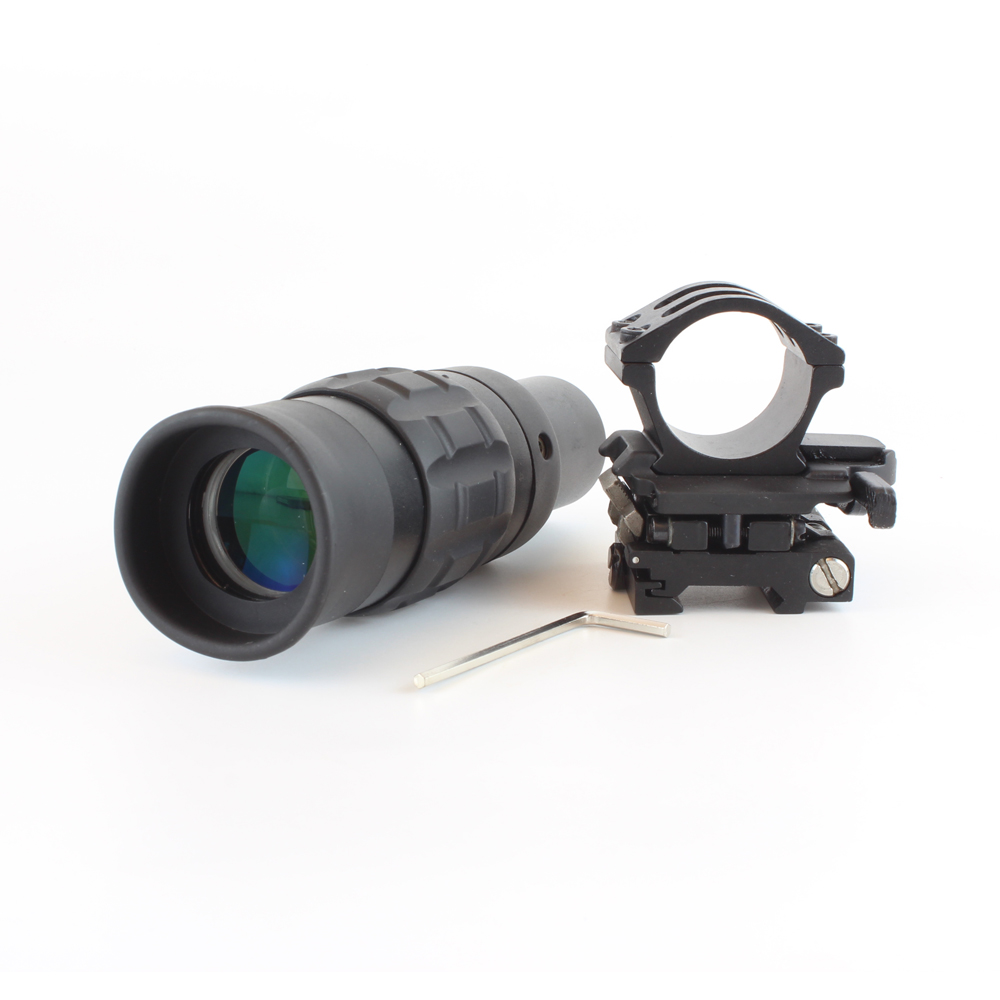 SPINA OPTICS Tactical Zooming 1.5 5X Magnified Optics Magnifier Scope with Flip to Side Mount for hunting|Riflescopes| |  - title=