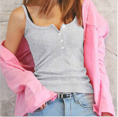 S-3XL Crop Top Wanita Fashion Musim Panas Rompi Tanpa Lengan Tank Top Kasual Padat Crop Top Wanita Hot Plus Ukuran xxxl XXL
