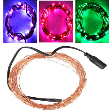 12 Volt Waterproof Copper wire string lights 10M 100 LEDs Outdoor Cristmas  fairy lights Pink Purple White Freeshipping 3