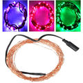 12 Volt Waterproof Copper wire string lights 10M 100 LEDs Outdoor Cristmas fairy lights Pink Purple White Freeshipping 3 set/lot