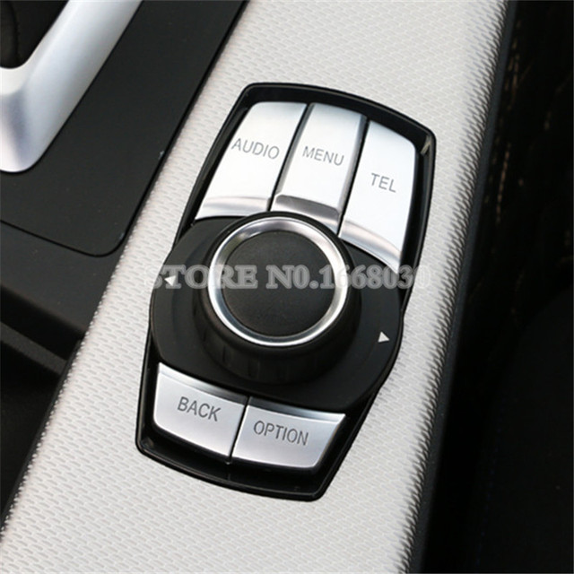 US $22 52 13% OFF|Inner Console iDrive Multimedia Button Trim Cover 5pcs  For BMW 1 2 Series F20 F21 F22 2012 2018-in Interior Mouldings from