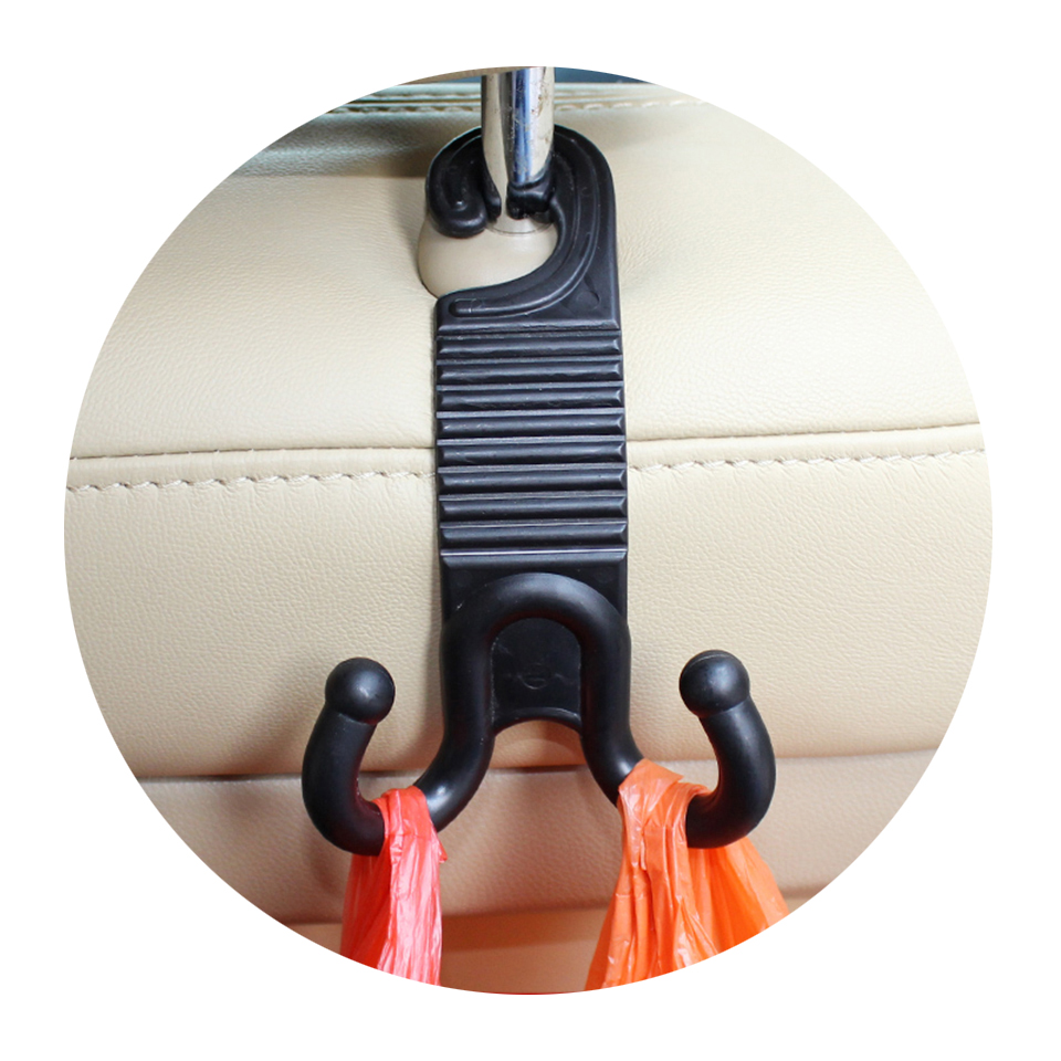 Promotion! 2pc/lot Claw shape Car Seat back Hook Cargo Trunk Bag Hook Holder Hanger Black color for toyota bmw Universal car use