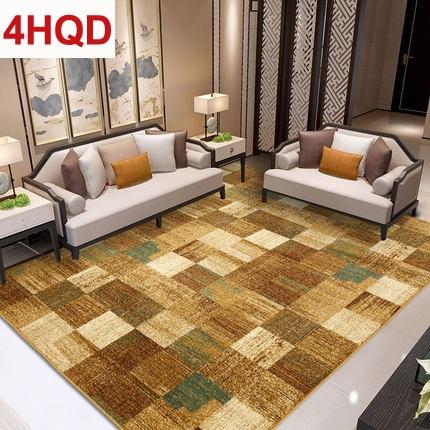 Américain minimaliste salon table basse tapis moderne simple européen chambre lit couverture tissé tapis peut être personnalisé