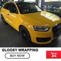 Yellow Vinyl Car Wraps High Gloss Vinyl Wrap Car Vinyl Wrap For BMW With Air Release