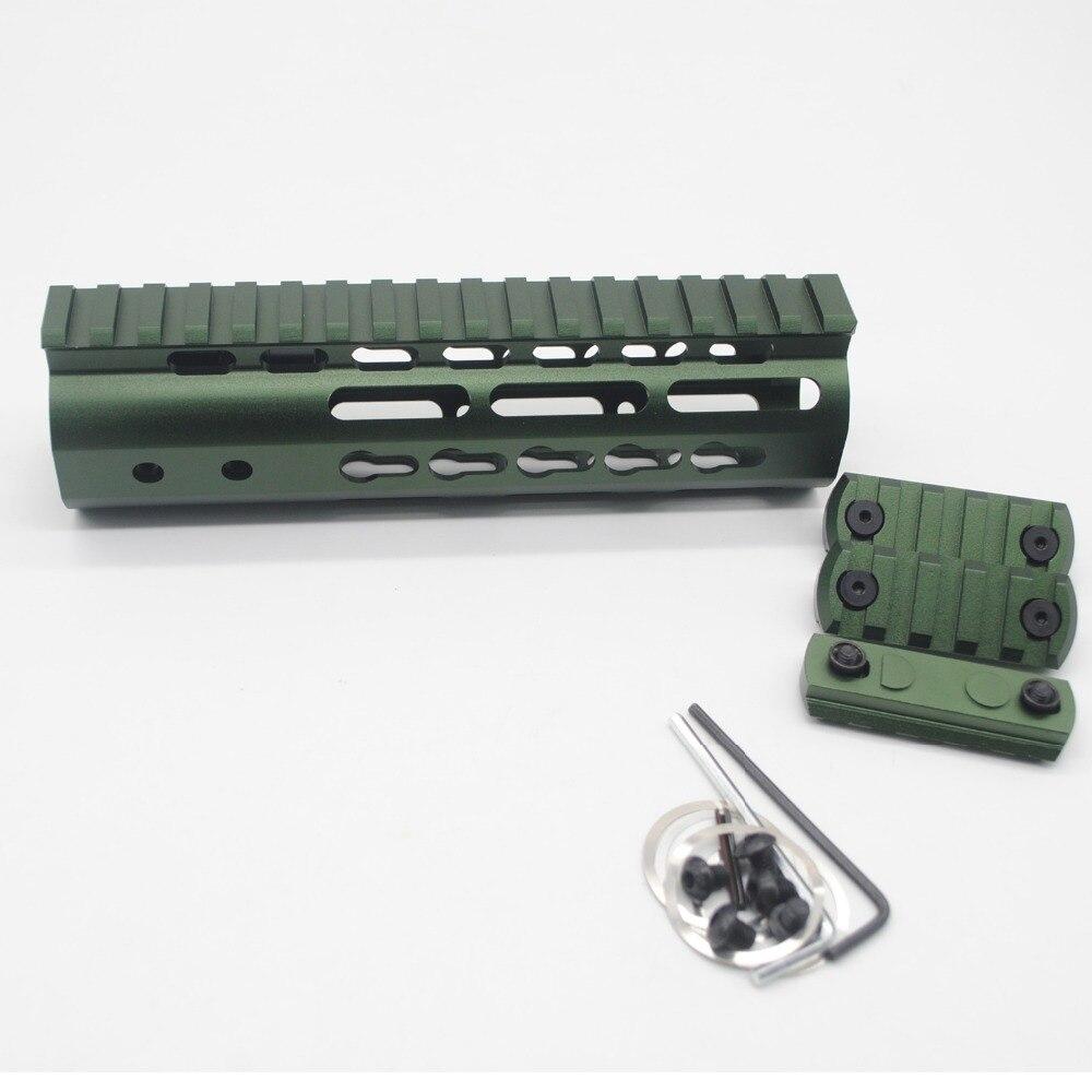 7/'/' inch Keymod Handguard Rail Free Float Picatinny Mount System/_ Olive Green