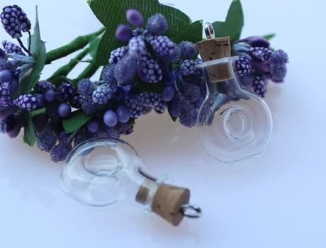 10PCS Cognac Bottle(20x24MM,1.5ML) Fragrance Bottle glass bottles, Perfume Bottle Pendants