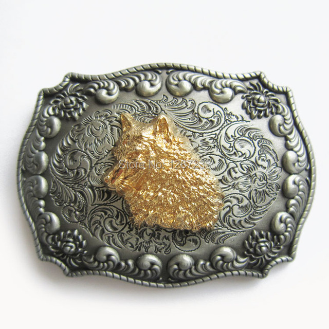 cb0ef20fe743 Distribute Belt Buckle Original Golden Wolf Head Western Buckle Belt Buckle  Free Shipping 6pcs Per Lot Mix Style is Ok