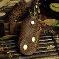 Nuevo Unisex Crazy Horse de Cuero Genuino Llave Del Coche Del Bolso de Las Mujeres hombres Ama de Llaves Llavero Key Holder Llavero Cubre Bolsa Caja de Llaves bolsas
