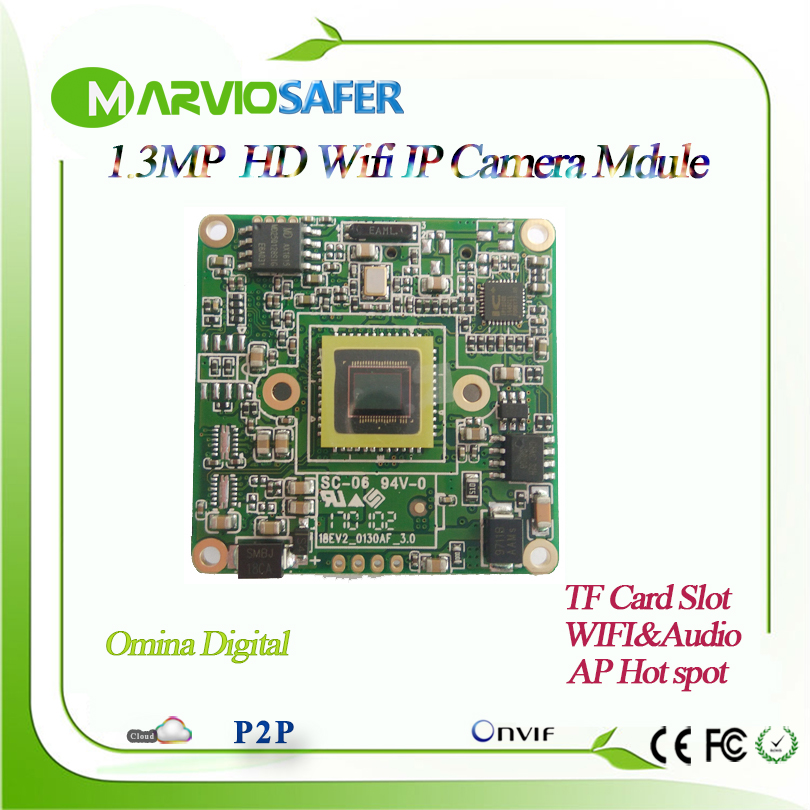 Marviosafer 960P HD 1.3MP Wi-fi IP Camera Network Module Board Wireless Audio Onvif Micro SD / TF Card Slot AP hot spot OnvifMarviosafer 960P HD 1.3MP Wi-fi IP Camera Network Module Board Wireless Audio Onvif Micro SD / TF Card Slot AP hot spot Onvif