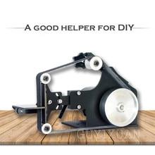 Ленточный шлифовальный станок деревообрабатывающий металлический DIY полировальный станок бытовой электрический нож шлифовальный станок BS-25
