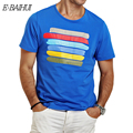 E-BAIHUI marca Verano estilo de algodón para hombre t-shirt Ropa Delgada de la Camiseta Camisetas de los hombres remata camisetas camisetas camiseta estampada Y015