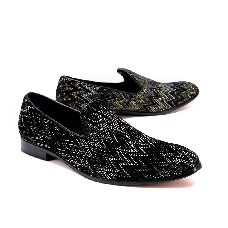 Mabaiwan 2018 Black Fashion Causal Men Shoes Loafers Slipper Wedding Dress  Shoes Men Slip On Handmade Party Leather Flats - aliexpress.com - imall.com 9438eab50e0d