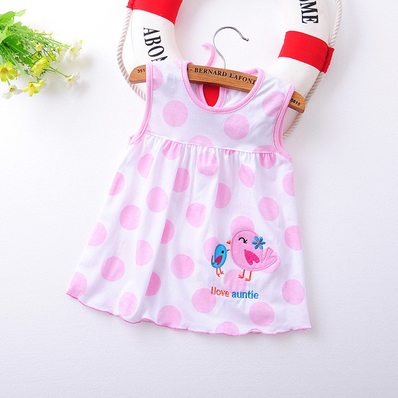 2017 Summer 1 year Baby Girl Cotton Dress Infant Kids Princess Dresses 0-12 Months Newborn Clothes Clothing Christmas Gift 2016 baby girl flutter sleeves summer birthday princess dress cotton frock designs teen kids clothing bulk clothes teenagers