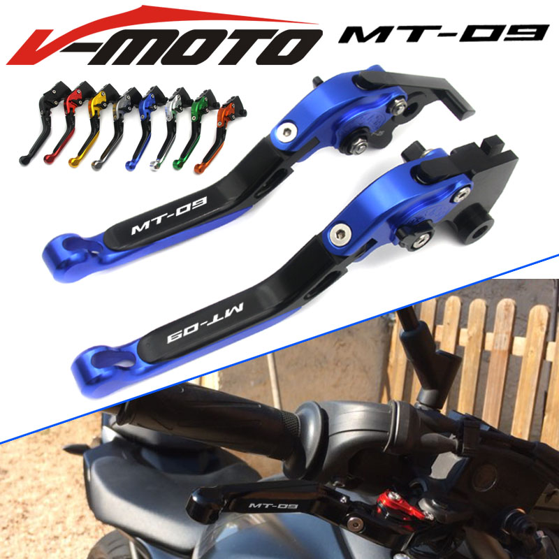 For YAMAHA FZ-09 FJ-09 MT-09 SR MT09 MT 09 MT-09 Tracer 2014-2016 Motorcycle Accessories Folding Extendable Brake Clutch Levers for yamaha fz 09 mt 09 fj 09 mt09 tracer 2014 2016 motorcycle integrated led tail light brake turn signal blinker lamp smoke