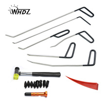 WHDZ Automotive Paintless Dent Repair Tools Kit Rubber hammer tap down pen Dent Remover PDR Hail Repair Tool Metal PDR Rods super pdr tools black nylon pen tap down pen paintless dent removal pen us for dent repair tool auto hand tools