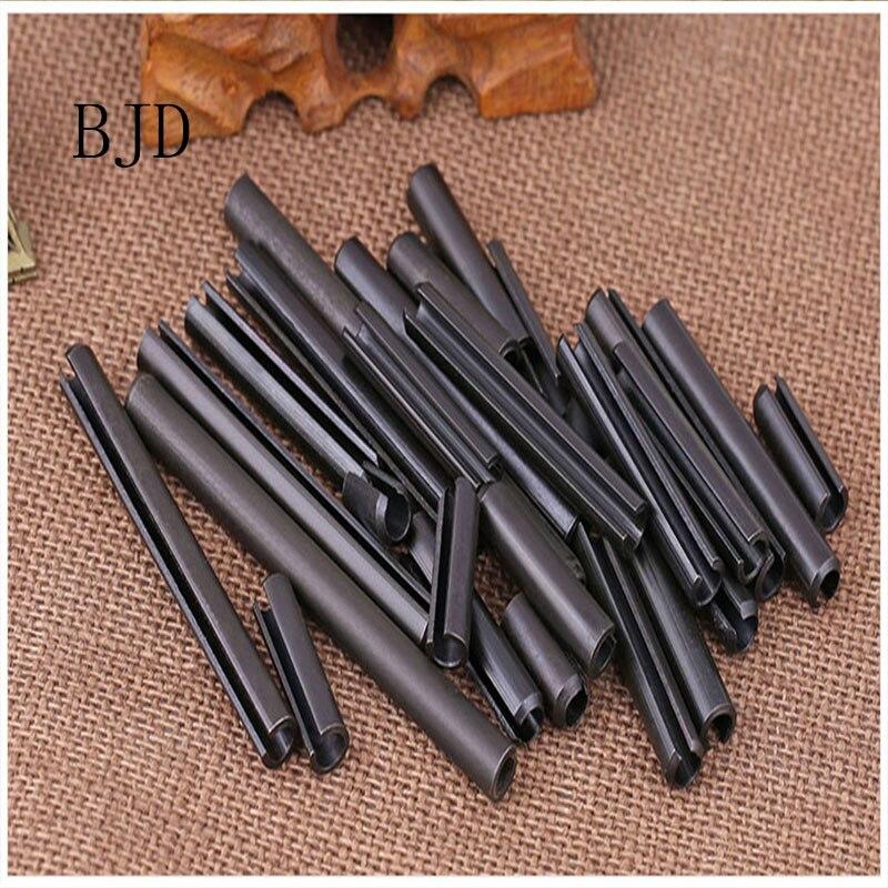 100pcs M1.5/M2/M2.5/M3/M4/M5 5mm-50mm GB879 Spring Pin Elastic Cylindrical Hollow Pin Cotter Pin Positioning Pins