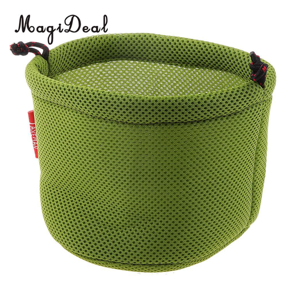 Thicken 3D Drawstring Mesh Cloth Storage Bag Outdoor Pot Set Bowls Small