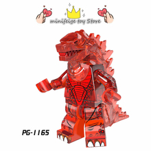 5 Style Godzilla Dinosaur Building Blocks Compatible Legoinglys Action Figure