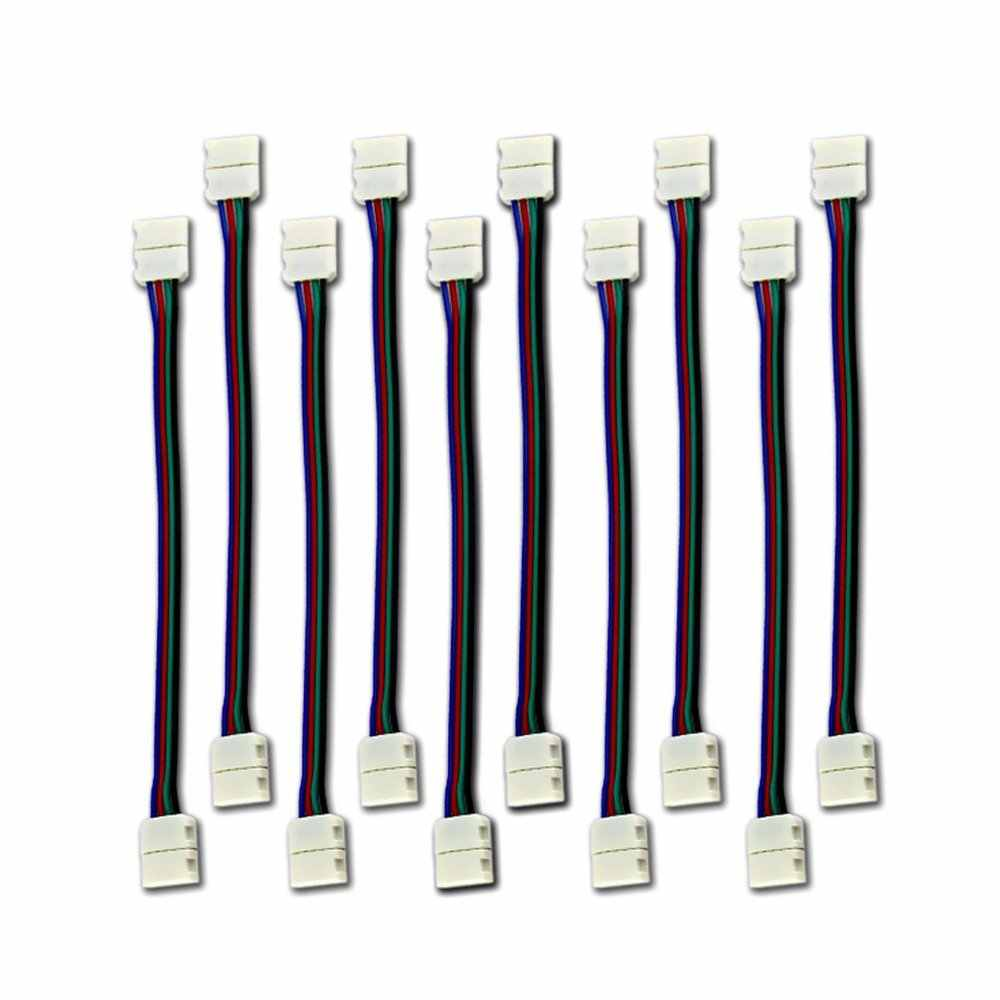 10PCS LED 5050 RGB Strip Light connection 4 Conductor 10 mm Wide Strip to Strip Jumper
