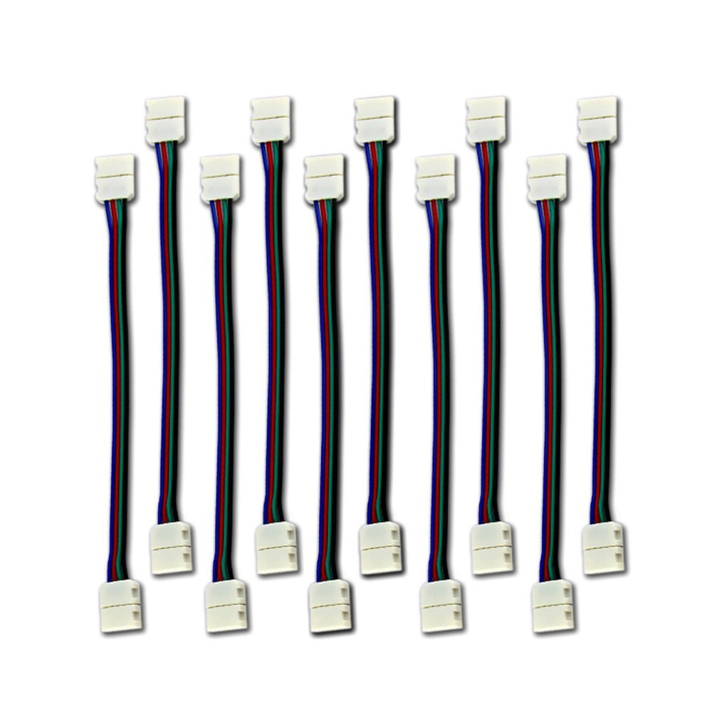 10PCS LED <font><b>5050</b></font> RGB Strip Light connection 4 Conductor <font><b>10</b></font> mm Wide Strip to Strip Jumper image