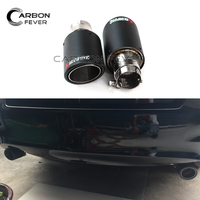 Universal Carbon Akrapovic Car Exhaust Tip Out 63mm In 89mm For All Cars Exhaust System Muffler