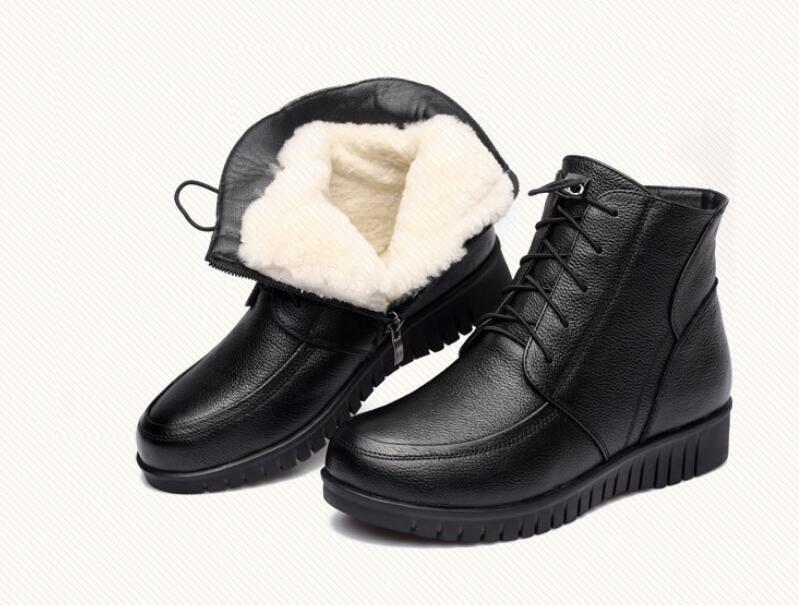 купить SunNY Everest winter boots womens botas woman boots real leather sheep wool warm cotton boots botas lace up36-41
