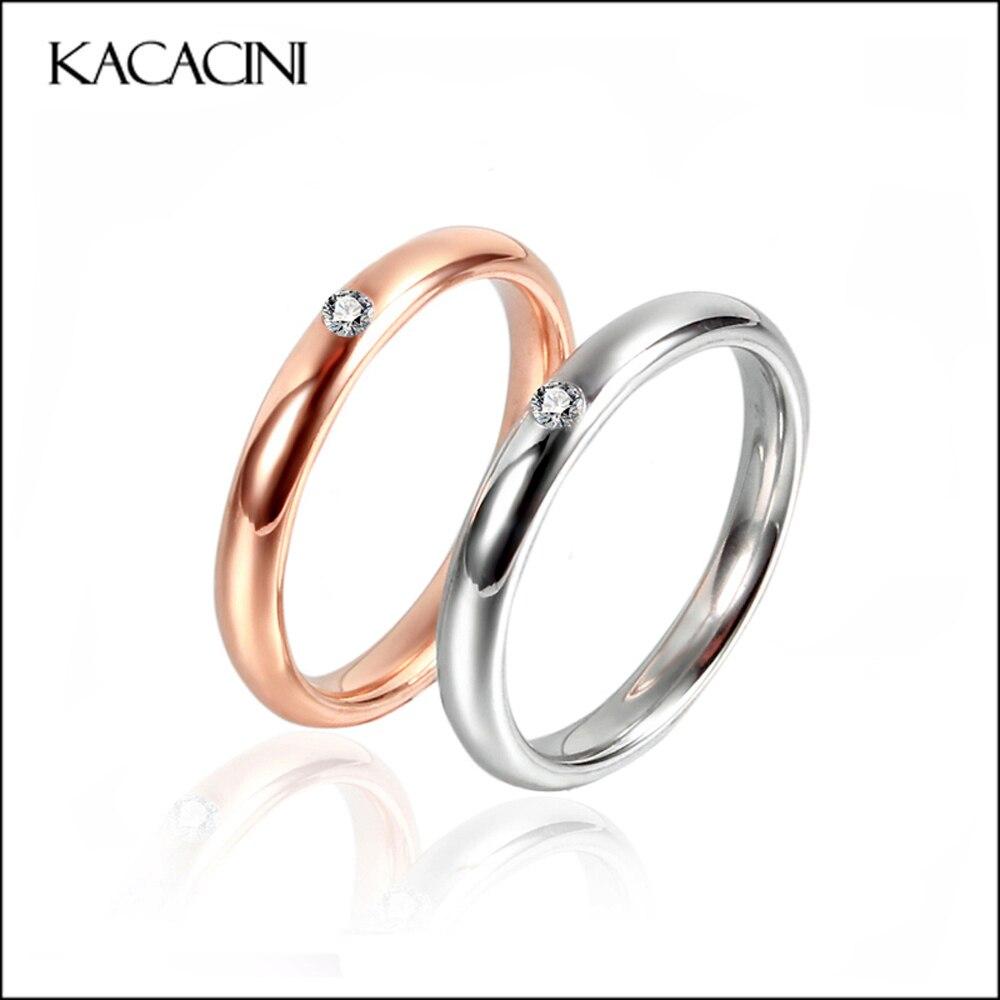 Prix pour Haute qualité en acier inoxydable femelle anneau 3mm simple conception Européenne et Américaine de la mode bijoux
