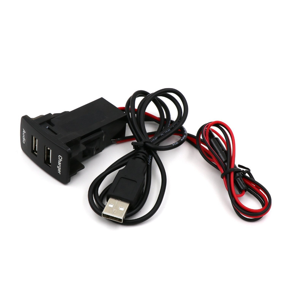 Special Dedicated 5V 2.1A Car Interface Charger Adapter USB Audio input for the Toyota Car